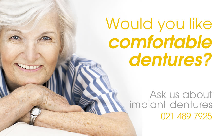 would you like comfortable dentures? contact elmwood dental
